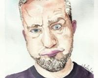 Autoportret 1 - akwarela